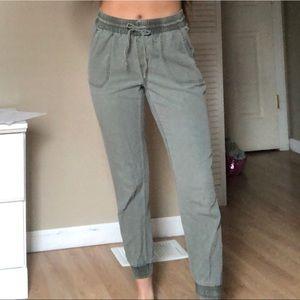 Green olive hollister jogger pants